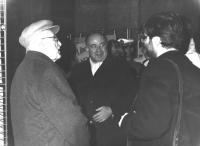 Al centro: Valerio Zanone (PLI)  (BN)