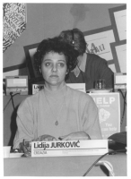 Consiglio Federale, I sessione, ritratto di Lidija Jurkovic (Croazia) (BN)