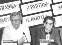 ritratto di Paolo Vigevano e Maurizio Turco, in occasione del Consiglio Federale del PR. (BN)