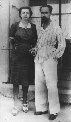 Ernesto ed Ada Rossi al confino fascista nell'isola di Ventotene  (BN) Nelle altre altre foto di Ada Rossi