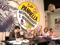 conferenza stampa presso la sede del PR con Palma, Stanzani, Vigevano, Bernardini, Giustino per annunciare una escalation delle iniziative nonviolente