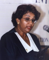 Inter governmental caribbean conference of the international criminal court. Ritratto di Cathreen Sookram, permanent secretary of the Attorney General