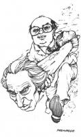 """VIGNETTA Bettino Craxi usa Marco Pannella come testa d'ariete. La vignetta, firmata Fremura, uscita sul quotidiano """"La Nazione"""", si riferisce alla dic"""