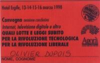 """Sessione conclusiva del convegno - promosso dalla lista Pannella, dal Partito Radicale e da Agorà telematica - intitolato: """"Internet, televisione digi"""