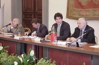 Sergio Stanzani, ???, Niccolò Figà Talamanca, Claudio Moreno, alla Conferenza intergovernativa europea sullo statuto di Roma della corte penale intern