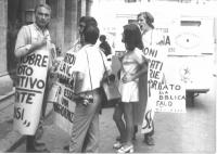 Manifestazione alla corsia agonale (davanti a palazzo Madama) affinchè il Senato voti entro ottobre la legge Fortuna. Pannela è in digiuno dal 9 agost