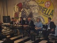 Conferenza stampa presso la sede di via di Torre Argentina. Al tavolo, da sinistra a destra: Benedetto Della Vedova, Emma Bonino, Danilo Quinto, Marco