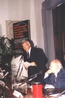 Luciano Violante. Conferenza Europea sullo Statuto di Roma istitutivo della Corte Penale Internazionale.