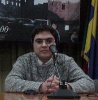 """Andrej Babitski, giornalista - autore del reportage sulla Cecenia trasmesso da BBC - al convegno """"Cecenia: una guerra nascosta"""", promosso dal PR e dai"""