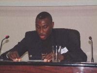 Ekow Baiden (Ghana) alla Conferenza del Mali per la ratifica del tribunale penale internazionale.