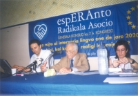 7° Congresso ERA. Giorgio Pagano, Leo Solari, Daniela Giglioli.
