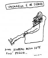 """La vignetta di Vincino (uscita sul quotidiano """"Il Foglio"""") si riferisce al successo dello sciopero della sete e del satyagraha radicale, conclusosi co"""