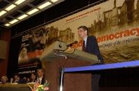Olivier Dupuis, alla tribuna del 38° Congresso del PR.