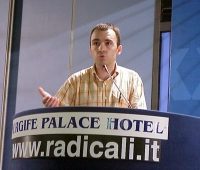 Marco Eramo interviene al Primo Congresso dei Radicali Italiani.