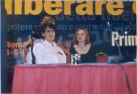 Luca Coscioni e sua moglie al Primo Congresso dei Radicali Italiani.