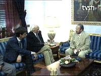 Olivier Dupuis, Marco Pannella, a colloquio con il Primo Ministro dell'Albania Fatos Nano.