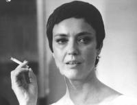 ritratto di Ilaria Occhini (BN) attrice. Giovane