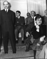 Platea di uno dei Convegni degli Amici del Mondo, al teatro Eliseo. Sul fondo, a destra: Sandro Pertini.