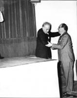 Lamberto Borghi e Mario Pannunzio, in occasione del Primo Congresso Nazionale del PR.