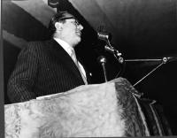 Mario Pannunzio, al Primo Congresso Nazionale del PR: