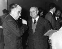 Franco Libonati e Francesco De Martino (all'epoca vicesegretario del PSI).