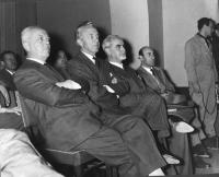 Leopoldo Piccardi, Niccolò Carandini, Ernesto Rossi, e Manlio Del Bosco, al Primo Congresso Nazionale del PR.