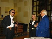 Marco Pannella incontra Bernard Henry Levy. (Fra loro Frédérique Ries, membro del Parlamento Europeo).