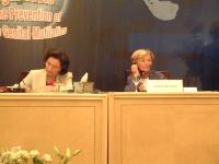 """Suzanne Mubarak ed Emma Bonino nel corso della conferenza: """"""""LEGAL TOOLS FORTHE PREVENTION OF FEMALE GENITAL MUTILATION"""". Altre digitali"""