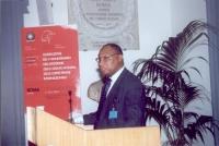 Allieu I. Kanu  (Vice Presidente dell'Assemblea degli Stati Parte della Corte Penale Internazionale) interviene alla celebrazione del V anniversario d