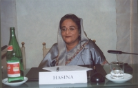 Hon. Sheikh Hasina, Former Prime Minister, Bangladesh. (In occasione della tavola rotonda, promossa da No Peace Without Justice, in collaborazione con