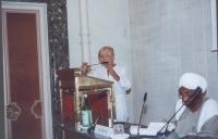 Alla tribuna: Emma Bonino. Al tavolo: Hon. Sadek el Mehdi, Former Prime Minister, Sudan.  (In occasione della tavola rotonda, promossa da No Peace Wit