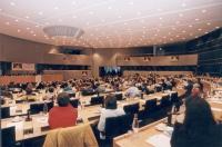 3° seminario europeo sul Tibet, promosso dal Partito Radicale, e dal gruppo parlamentare radicale al Parlamento Europeo. Vista della platea.