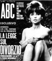 """Copertina della rivista ABC, con titolo: """"La legge sul divorzio, pubblichiamo il testo integrale""""."""