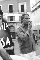 3a marcia antimilitarista Milano-Vicenza. Marco Pannella tiene un comizio.