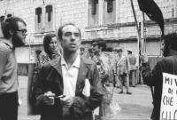 3a marcia antimilitarista Milano-Vicenza. Manifestazione davanti al carcere militare di Peschiera. Tra gli altri: Roberto Cicciomessere.