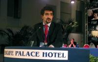 Carmelo Palma, alla tribuna del Terzo Congresso dei Radicali Italiani.