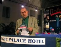 Ignazio Marcozzi Rozzi alla tribuna del Terzo Congresso dei Radicali Italiani.