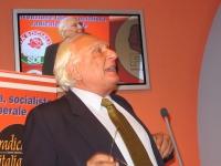 Marco Pannella alla convenzione SDI-Radicali.